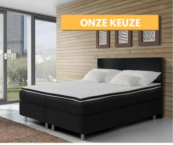 boxspring kopenhagen 140x200 compleet boxspring. Black Bedroom Furniture Sets. Home Design Ideas