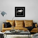 Dibond art - White horse in framework_