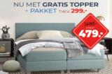 Boxspring Ibiza GRATIS PAKKET t.w.v. 249,- en GRATIS topmatras_
