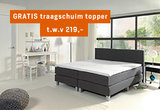 Boxspring Madrid XXL Luxe pocketveer inclusief traagschuim topmatras t.w.v. 219,-_