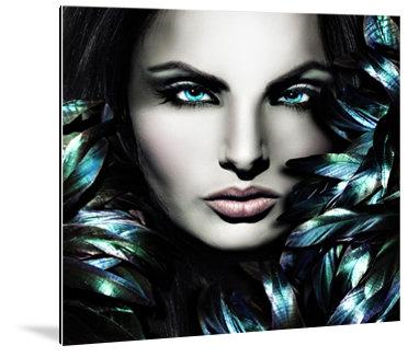 Dibond art -  Portret van mooie vrouw