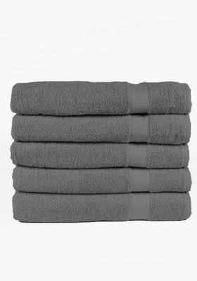 Handdoeken 50x100 cm (5-delig) Antraciet