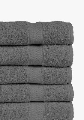 Handdoeken 70x140 cm (5-delig) Antraciet