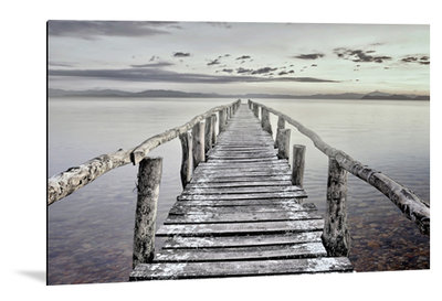 Dibond art - Wooden bridge