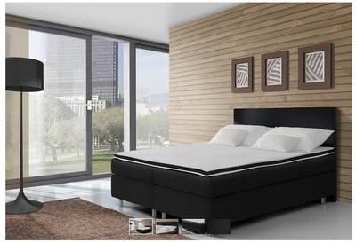 boxspring kopenhagen 160x200 compleet boxspring. Black Bedroom Furniture Sets. Home Design Ideas